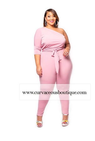 Blush Sheena Drape Jumpsuit