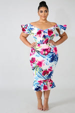 Floral Allure Ruffle Dress