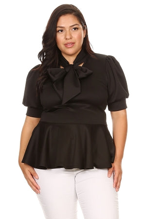 Black Garner Bow Tie Top