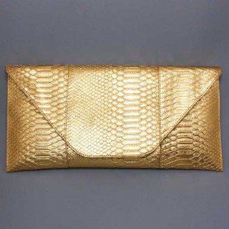 Envelope Gold  Clutch