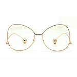 Gold Zina Metal Oversize Glasses