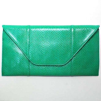 Green Envelop Clutch