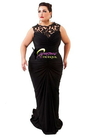 Black Lace Carrington Gown