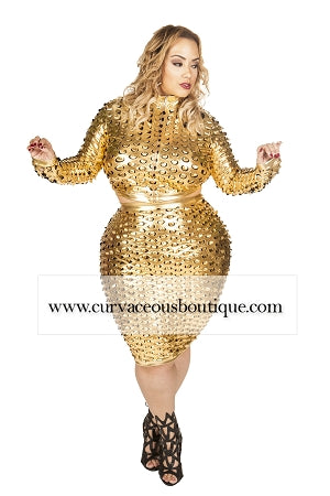 Gold Cali Punch-Out  Skirt Set