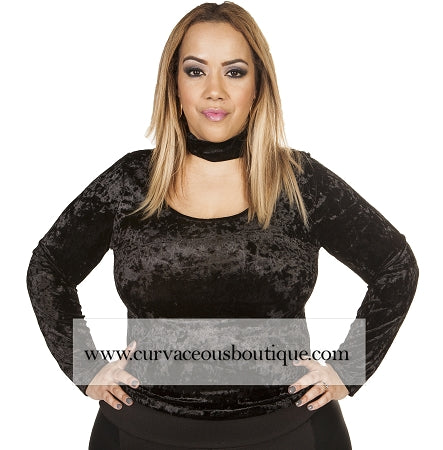 Black Velvet Choker Top
