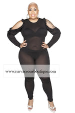 Black Maxwell See Thru Jumpsuit