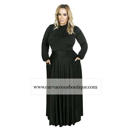 Black Orna Pocket Maxi Dres