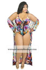 Rori Colorful Robe Swim Set
