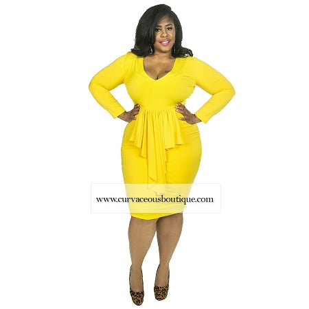 Yellow Mikki Ruffle Dress