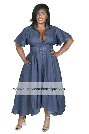 Pattie Flare Denim Dress