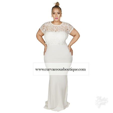 Ivory Sofi Tube Lace Gown
