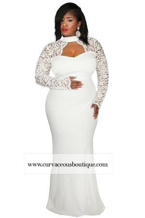 Ivory Morgan Lace Gown