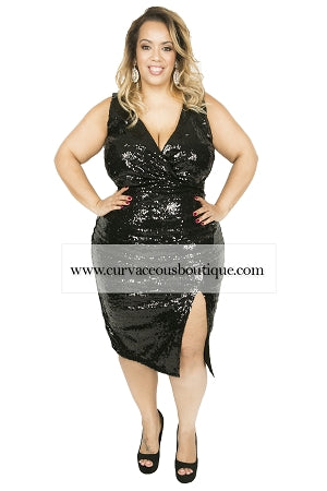 Black Rosa Sequin Dress