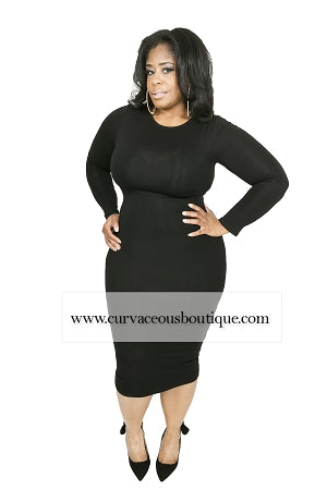 Black Simple Body-Con Dress