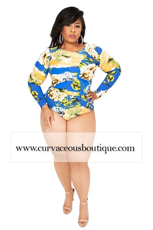 Royal Blue Floral 2Pc Swimset