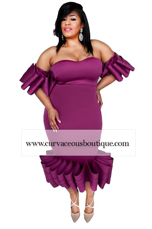 Magenta Avery Ruffle Layer Dress