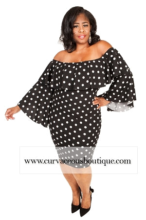 Black Vonn Polka Dot Dress