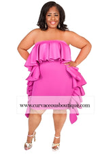 Pink Giselle Ruffle Fold-over Dress/Skirt