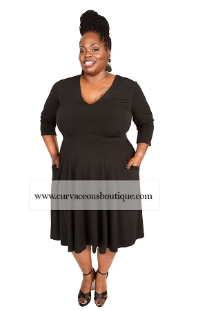 Black Jude Pocket Dress