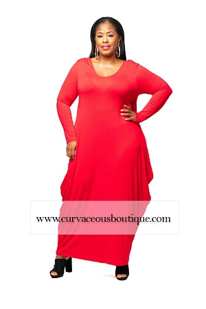 Red Tara Baggy Dress