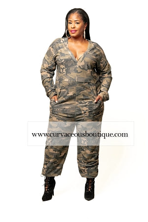 Nikki Camouflage Over-Sized  Jumpsuit