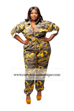 Yellow Houston Camouflage Jumpsuit