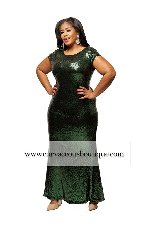 Green Campbell Sequin Gown