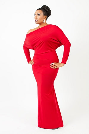 Red Long  Monroe Dress