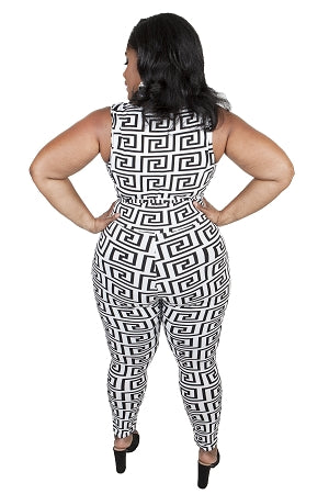 Ming Maze Print Catsuit