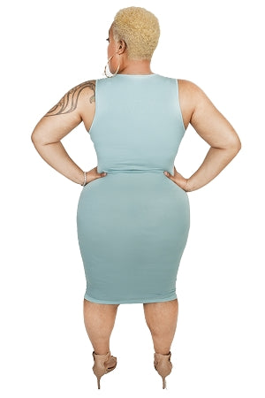 Mint Basic Midi Body-Con Dress
