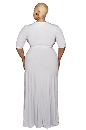 White Montana Wrap Maxi Dress