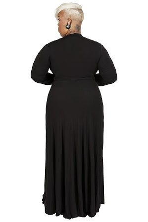 Black Aliyah Keyhole Maxi Dress