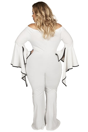 Off White Femi Flutter Sleeve Jumpsuit