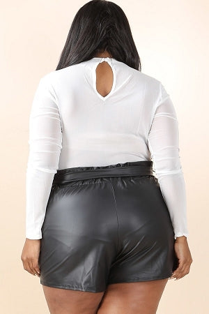 Mindy Faux Leather Shorts