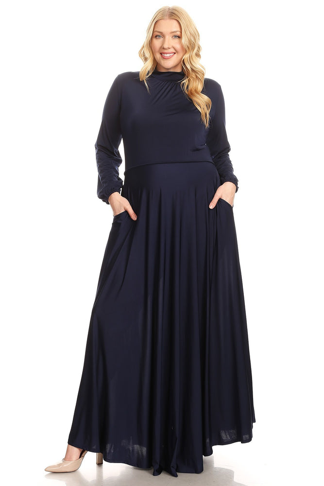 Navy Blue Orna Maxi Dress