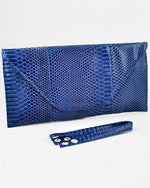 Envelope Navy Blue Clutch