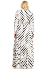 Off White Polka Dot Grace Maxi Dress