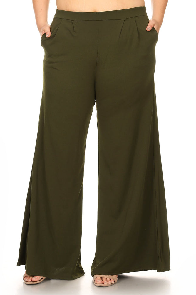 Olive Green Zoe Wide Leg Pants