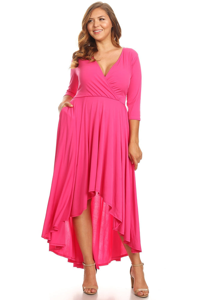 Pink Sofie Hi Low Dress