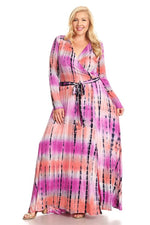 Pink Tie Dye Grace Maxi Dress