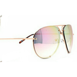 Pink Large Mirror Aviator Glasses