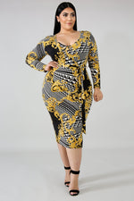 Sutton Print Body-Con Dress