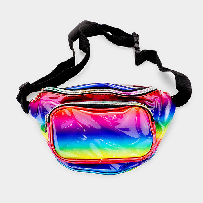Rainbow Hologram Fanny Pack