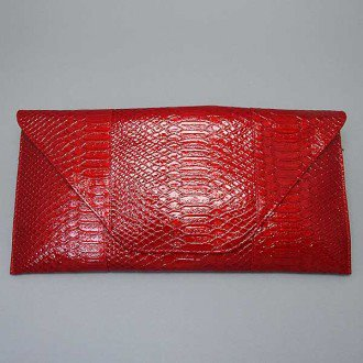 Envelope Dark Red Clutch