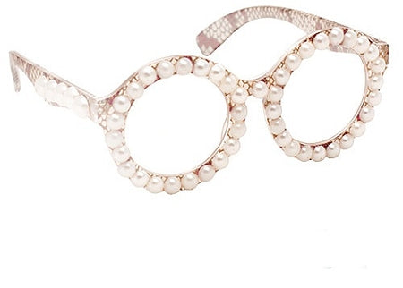 Cream Pearl Glasses