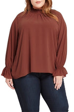 Rust Tammy Pleated Blouse