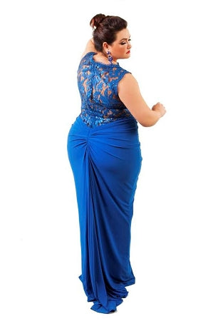 Blue Carrington Lace Gown