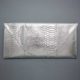 Envelope Silver Clutch