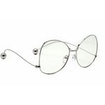 Silver Zina Metal Oversize Glasses