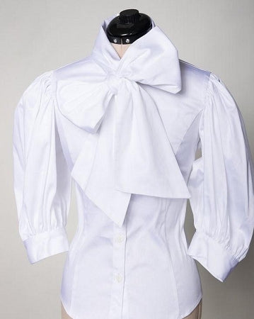 White Tawni Hayes Bow Tie Top